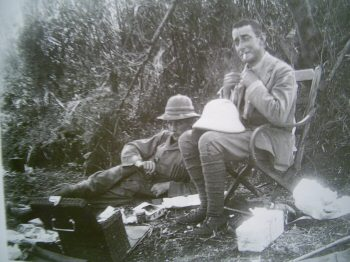 Luigi Amedeo of Savoy , duke of Abruzzi together with A.F Knowles at the feet of the Rwenzori in 1906.