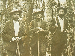 The Duke and his two guides, Cesar Ollier and Joseph Petigax.