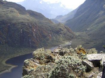 Lake Bujuku from Scott Elliot Pass