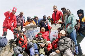 The Expedition reaches upto Margerita Peak. Courtsy R.Okello